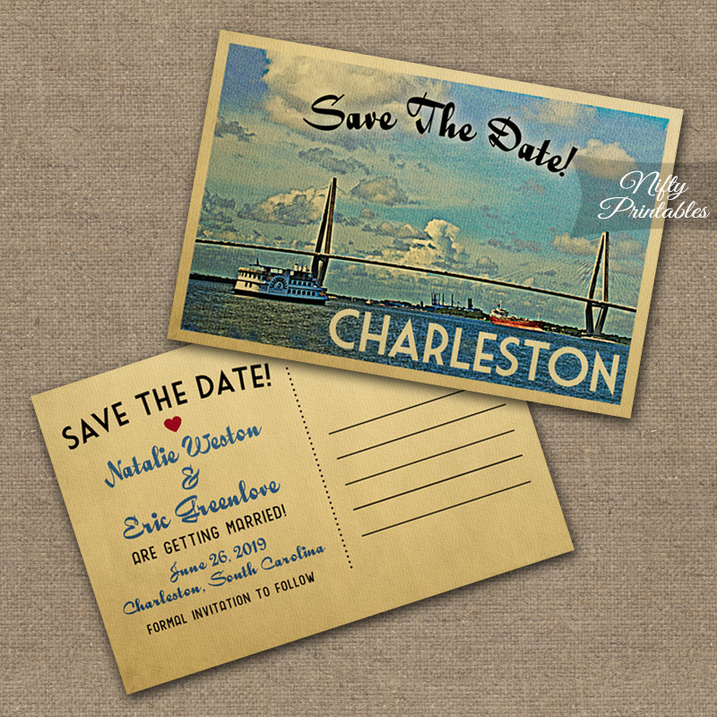 Charleston Save The Date Postcards VTW