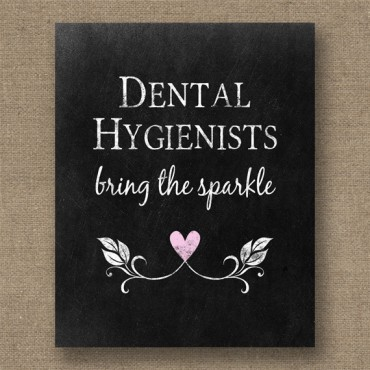 Dental Hygienists Chalkboard Dentist Print