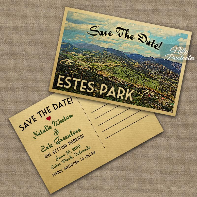 Estes Park Colorado Wedding Invitations VTW