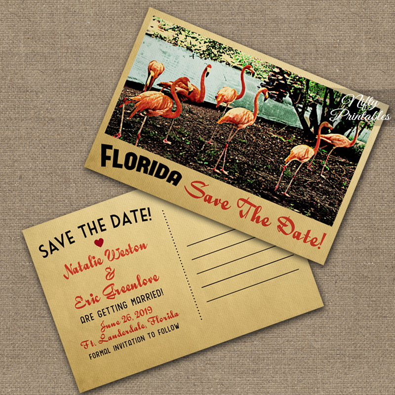 Florida Save The Date Postcards VTW