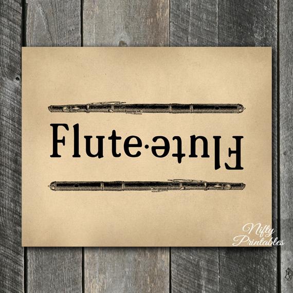 Vintage Flutes Music Print