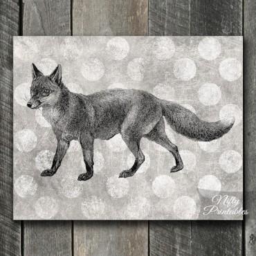 Fox Print - Vintage Polka Dots