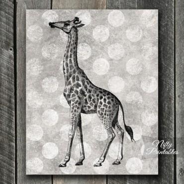 Giraffe Print - Vintage Polka Dots