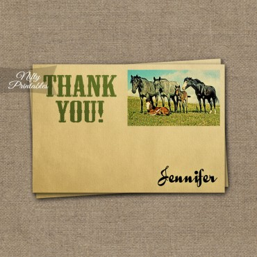 Horses Vintage Birthday Invitations