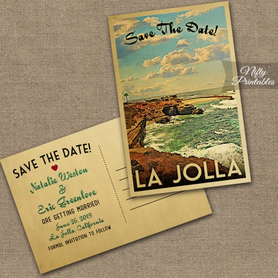 La Jolla California Wedding Invitations VTW