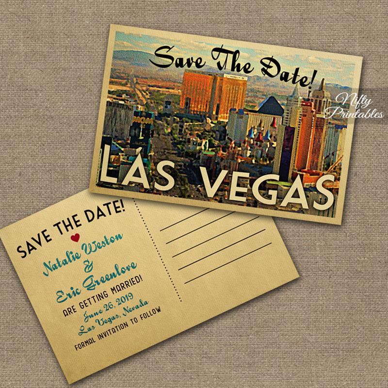 Las Vegas Save The Date Postcards VTW