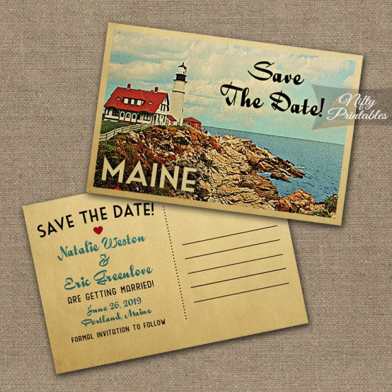 Maine Save The Date Postcards VTW