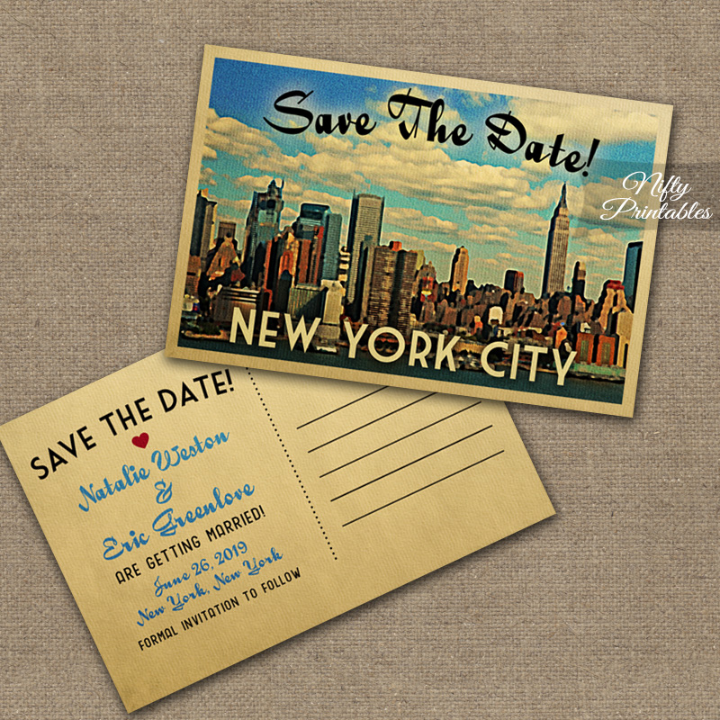 New York City Save The Date Postcards VTW