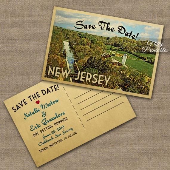 New Jersey Wedding Invitations VTW