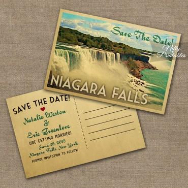 Niagara Falls Save The Date Postcards VTW
