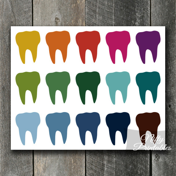 Teeth Color Array Print