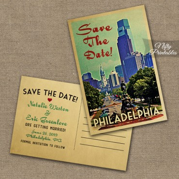 Philadelphia Save The Date Postcards VTW