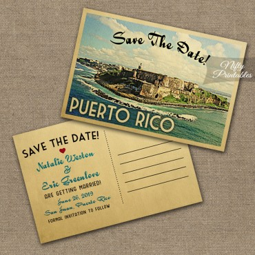Puerto Rico Save The Date Postcards VTW