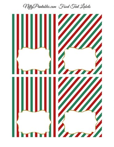 Christmas Blank Place Cards or Tent Cards