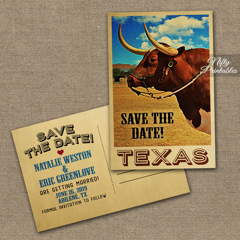 Texas Save The Date Postcards VTW