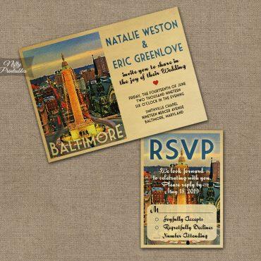 Baltimore Wedding Invitations VTW