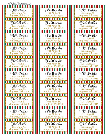 avery 8160 christmas address labels koni polycode co