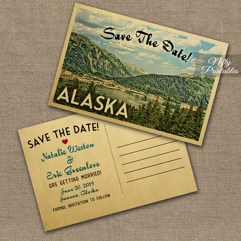 Mountain Save The Date Postcards - Alaska Or Any Locale VTW