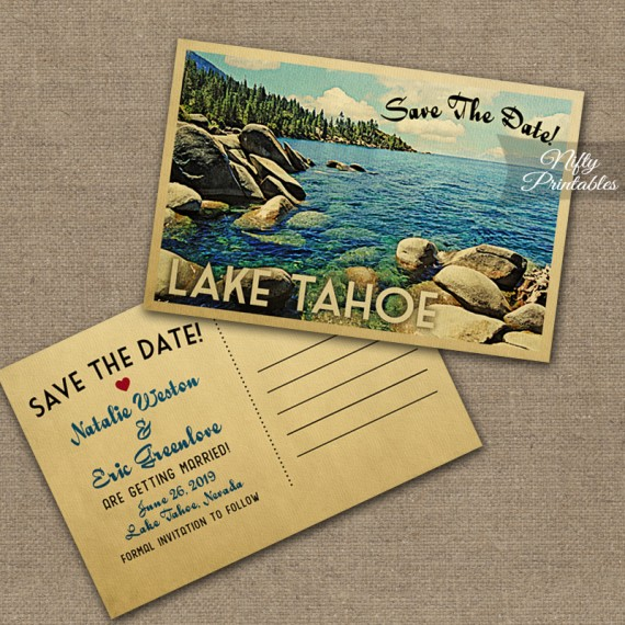 Lake Tahoe Wedding Invitations VTW