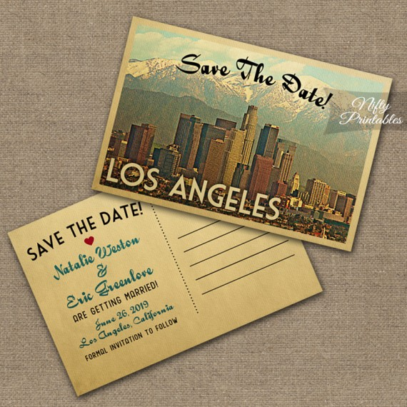 Los Angeles Save The Date Postcards VTW