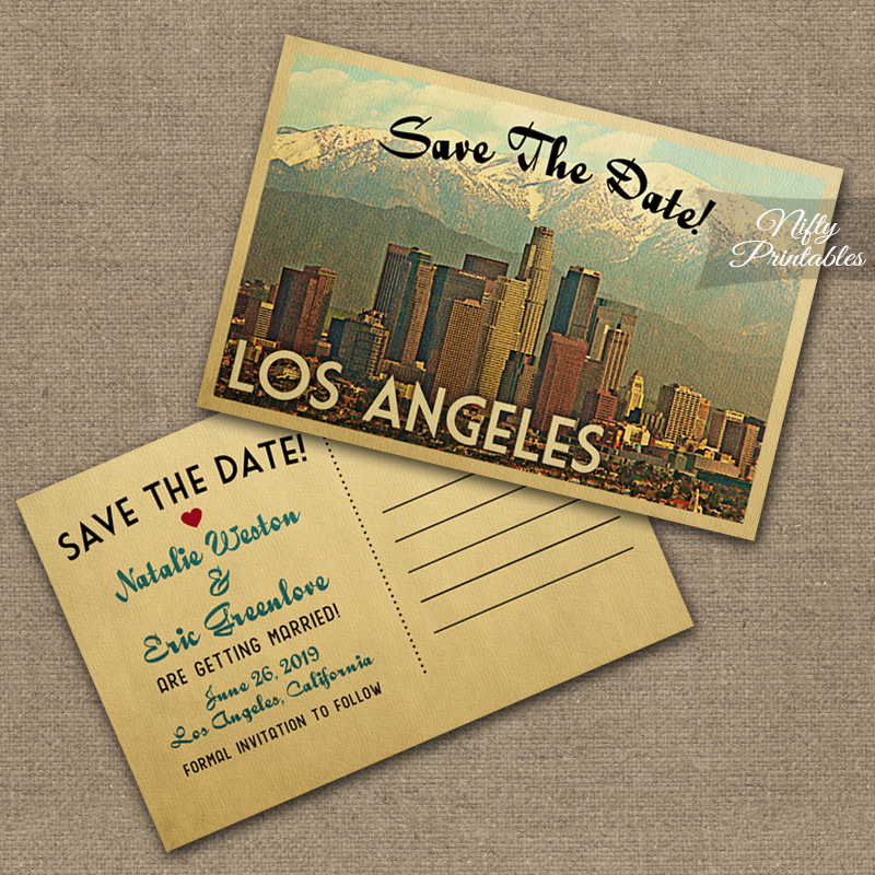 Los Angeles Wedding Invitations VTW