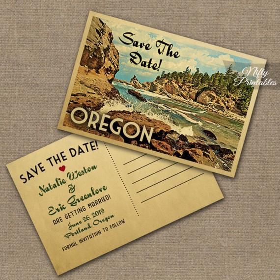 Oregon Save The Date Postcards VTW