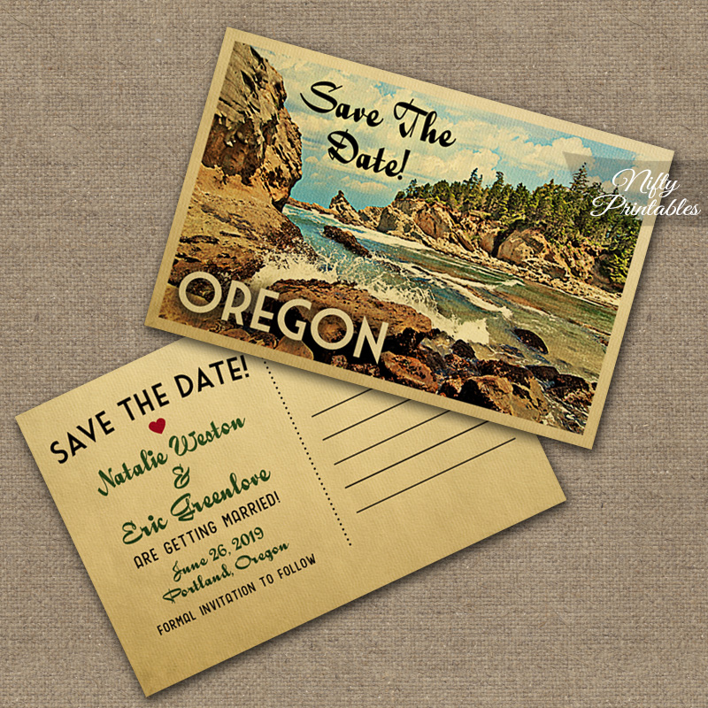 Oregon Wedding Invitations VTW