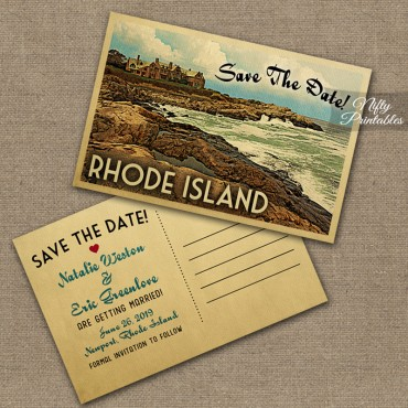 Rhode Island Save The Date Postcards VTW