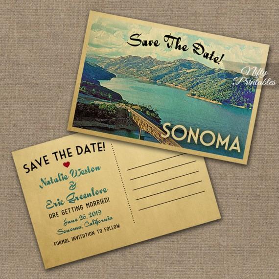 Sonoma Wedding Invitations VTW
