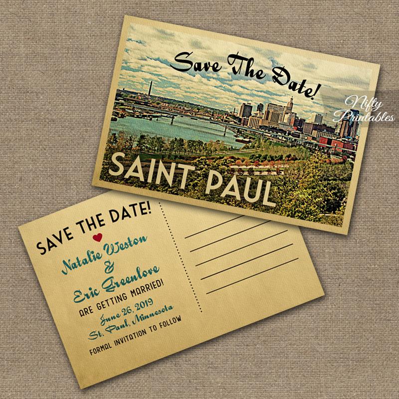 Saint Paul Save The Date Postcards St VTW