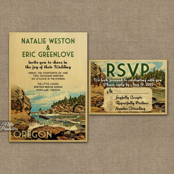 Oregon Wedding Invitations VTW