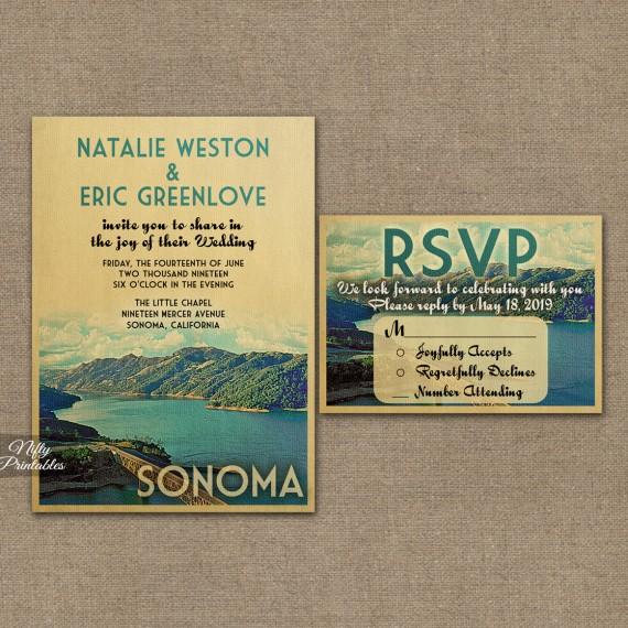 Sonoma California Save The Date Postcards VTW