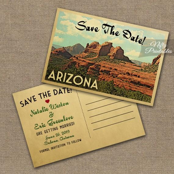 Arizona Save The Date Postcards VTW