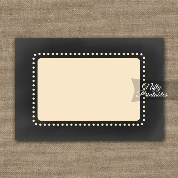 Chalkboard Blank Labels Nametags