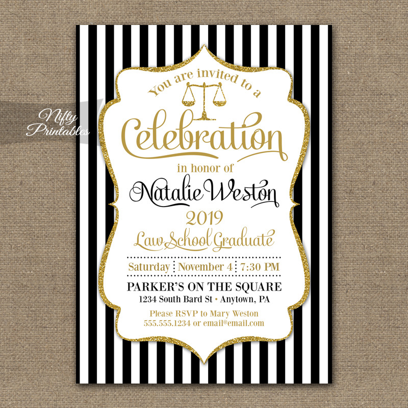 law school graduation invitations - Law School Graduation Invitations