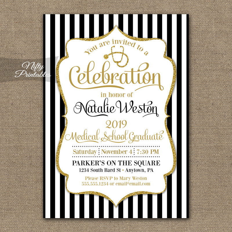 Medical School Graduation Invitations Nifty Printables – Medical School Graduation Invitation