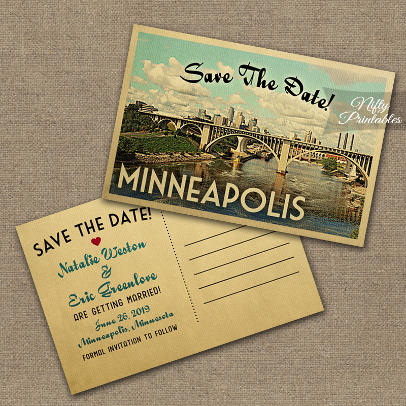 Minneapolis Save The Date Postcards VTW