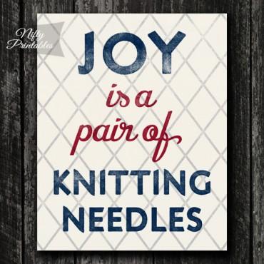 Knitting Needles Print
