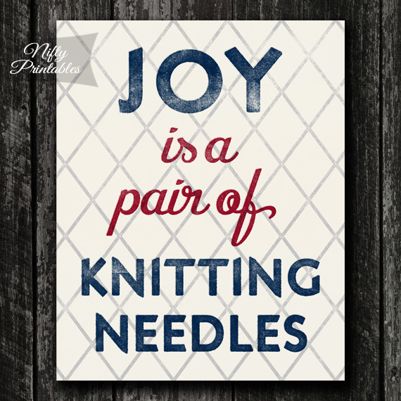 Knitting Needles Print