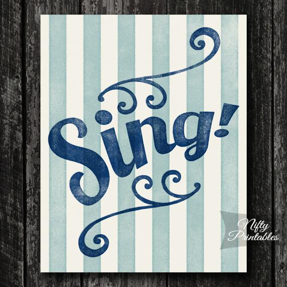 Sing Print - Singer Wall Art
