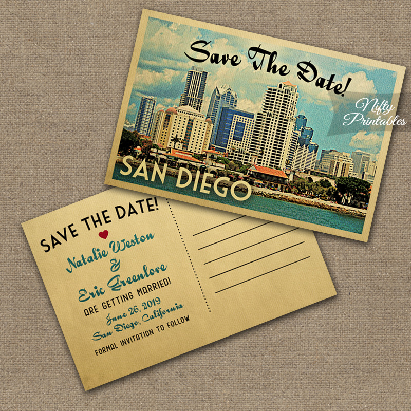 San Diego Wedding Invitations VTW