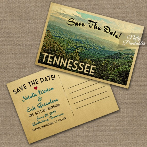 Tennessee Save The Date Postcards - Smoky Mountains VTW