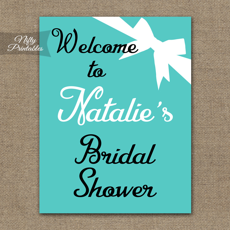 Tiffany Blue Bridal Shower Welcome Sign