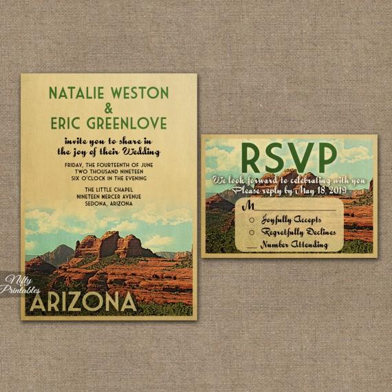 Arizona Wedding Invitations VTW