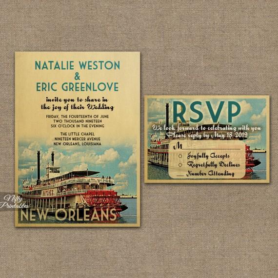 New Orleans Louisiana Wedding Invitations VTW