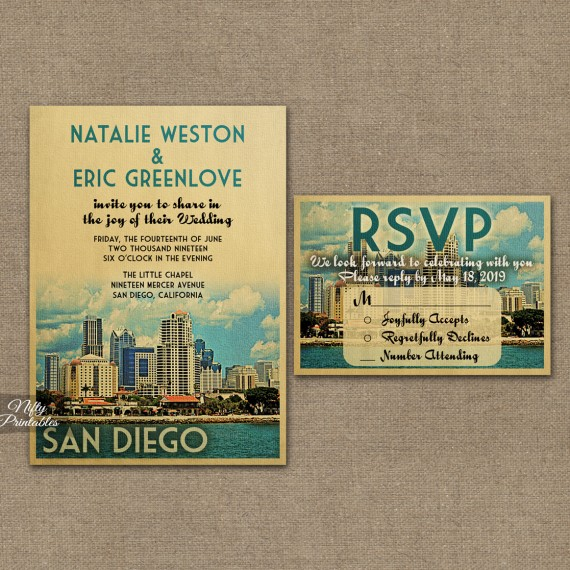 San Diego Save The Date Postcards VTW