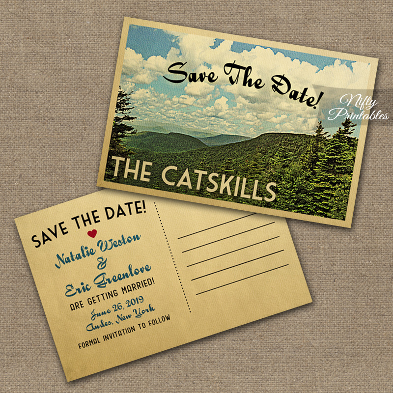 Catskills Save The Date Postcards VTW