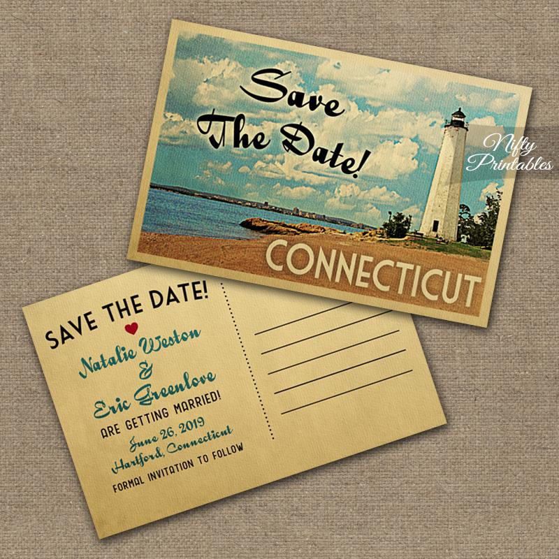 Connecticut Save The Date Postcards VTW