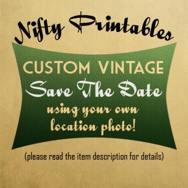Custom Vintage Save The Date Postcards VTW