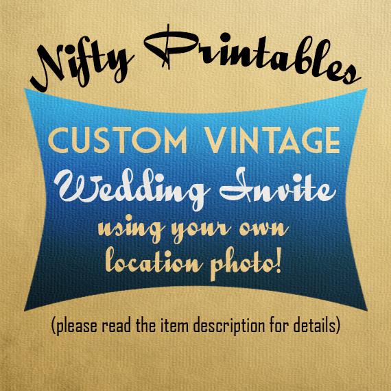 Custom Vintage Wedding Invitations VTW